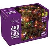 Brite Ideas Festive 480 Multiaction Cluster LED Lights, Multicolour