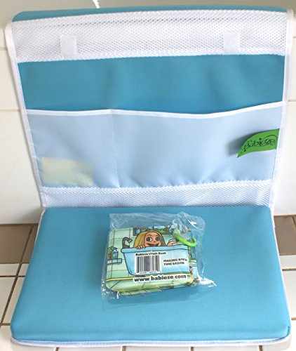 Baby bath kneeler for parents, blue