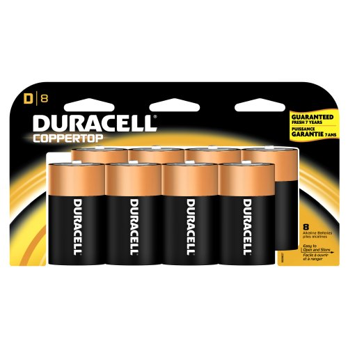 Duracell Batteries, D Size, 8-Count Packages (Pack of 2)