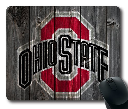 Ohio State Buckeyes Wood Look Mouse Pad, Customized Rectangle Mousepad Diy By Bestsellcase (Ohio State Mouse Pad compare prices)