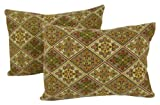American Mills 45215.998 Floral Pillow, 13 by 18-Inch, Set of 2