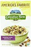 Cascadian Farm Granola Cereal, Cinnamon Raisin, 15.6 Ounce (Pack of 6)
