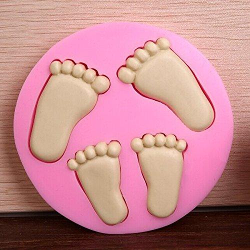 Bluelover Pieds 3D Little Baby Fondant chocolat Savon moule en silicone Moule