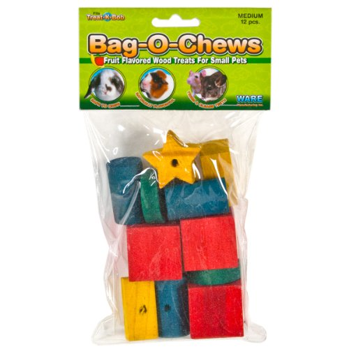 Ware Manufacturing Pine Wood Bag-O-Chews Small Pet Treat, Medium - Pack of 12 (Wood Chews compare prices)