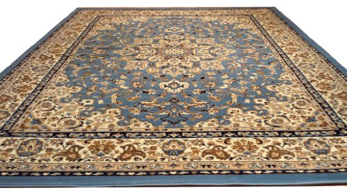 D603 Medallion Traditional Blue 5x8 Actual Size 5'3x7'2 Rug
