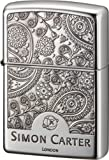 ZIPPO(ジッポー) SIMON CARTER ペイズリーフレーム 片面エッチング シルバーメッキ イブシ仕上げ SCP-018