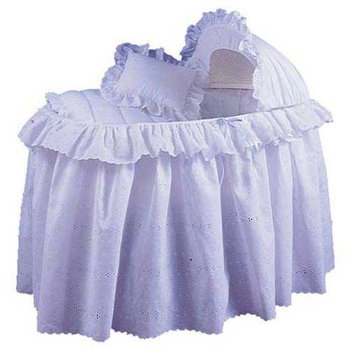 Imagen de Baby Doll Bedding Set Carnation Ojal moisés, Blanco