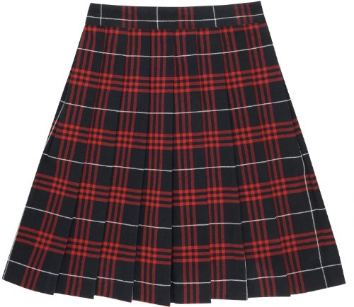 French Toast School Uniforms Plaid Pleated Skirt navy red plaid 14