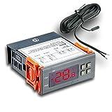 Temperature Controller, RISEPRO® Digital Thermostat Aquarium w 2 NTC sensors -50 to 99 °C Incubator Refrigerator Homebrew STC-1000