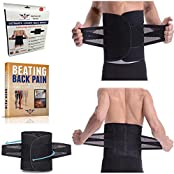 Lower Back Brace Support Belt For Low Back Pain Relief Lumbar Belt To Help Treat Scoliosis Sciatica Fix Spine...