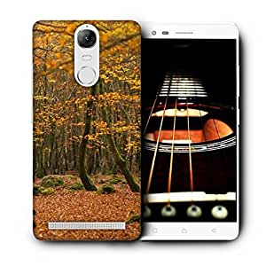 Snoogg Yellow Leaves Printed Protective Phone Back Case Cover For Lenovo K5 Note