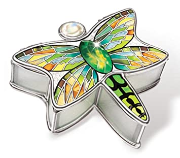 Amazon.com: Amia 6029 Dragonfly Design Hand-Painted Glass Jewelry ...