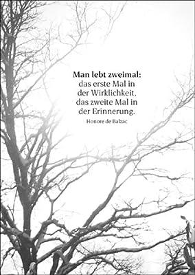 Trauerkarte mit Zitat als Beileidsspruch