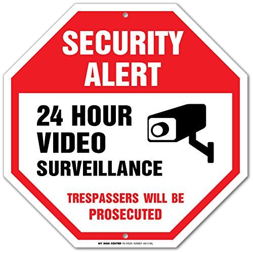 Alert 24 Hour Video Surveillance Trespassers Will Be Prosecuted ...