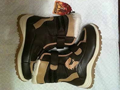 Disney Store Kids Pirates of the Caribbean at World's End Pirate Boots - Brown and Tan Velcro - Child's Size 1