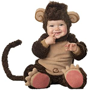 InCharacter Costumes Baby's Lil' Monkey Costume, Brown/Tan, Medium (12-18 Months)