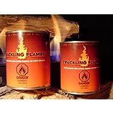 "Crackling Flames Gel Fuel - 24 Pack (Natural) (4""H x 3""W x 3""D)"