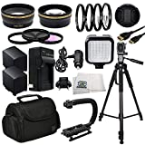 Professional Accessory Package For Canon XA20, XA25 HD Professional HD Camcorders