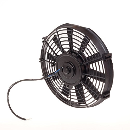 "Partsam 2Pcs Black 10"" Universal Slim 1730 Cfm Pull/Push Radiator Cooling Fan With Mounting Kit #Sdd-Raf-10+Fmk-X2"