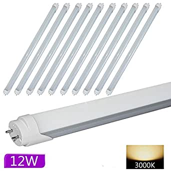 hakkatronics t8 3ft 12 watts led tube lights 30w fluorescent. Black Bedroom Furniture Sets. Home Design Ideas
