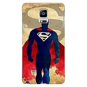 Jugaaduu Superheroes Superman Back Cover Case For Samsung Galaxy Note 4