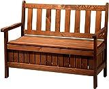 dobar-Gartenbank-Massive-mit-Lehne-2-Sitzer-aus-FSC-Holz-115-x-58-x-89-cm-braun