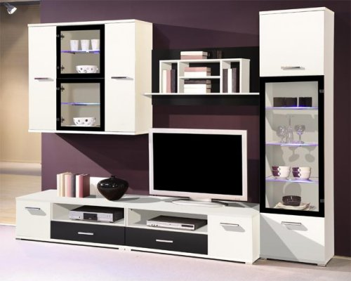anbauwand modern. Black Bedroom Furniture Sets. Home Design Ideas