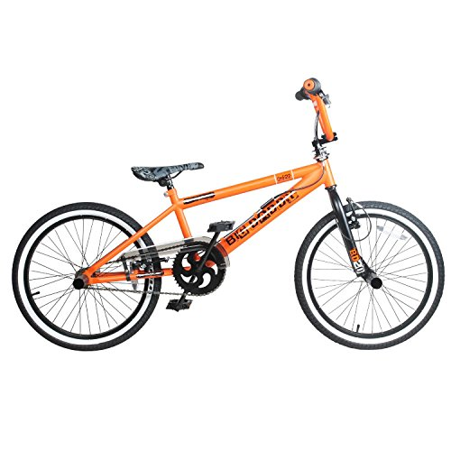 20-Zoll-BMX-Rooster-Big-Daddy-Spoked-SPECIAL-EDITION-Rotor-Pegs-20-Zoll-Oberrohr-Farbeorangeschwarz