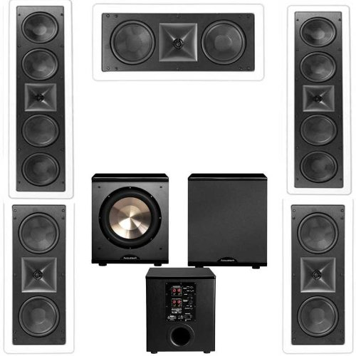 Klipsch Kl-6504-Thx 5.1 In-Wall Lcr Speaker System-Free Pl-200