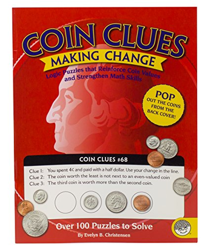 MindWare - Coin Clues: Making Change - 102 Logic Puzzles - Great for Teaching Problem Solving and Critical Thinking - Challenging and Rewarding - 1
