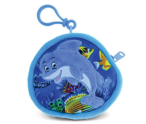 """Puzzled Dolphin Coin Bag, 4"""""""