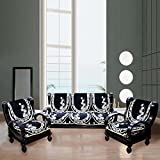 FURNISHING KINGDOM Velvet Slipcovers - White Black
