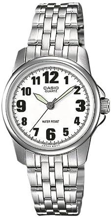 Casio - LTP-1260PD-7BEF - Collection - Montre Femme - Quartz Analogique -  Cadran Blanc - Bracelet Acier Argent - 4030eb14604a