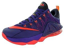 Nike Men\'s Lebron XII Low Crt Prpl/Brght Crmsn/Cv Prpl/L Basketball Shoe 13 Men US