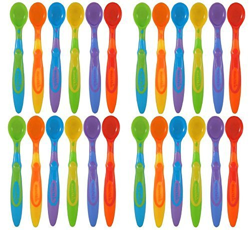 Munchkin Soft-Tip Infant Spoon, - Assorted Colors - 24 Count