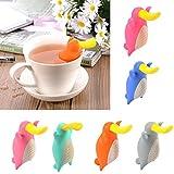 Generic Orange : 6 Colors Cute Duckbill Tea Infuser Nice Tea Leaf Strainer Herbal Spice Food Grade Silicone Filter...
