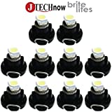 Jtech 10 x T3 Neo Wedge LED White Car Instrument Cluster Panel Lamps Gauge Bulbs