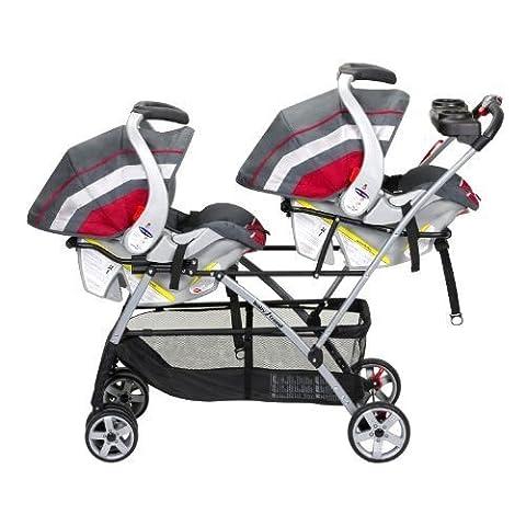 Frame Foldable Twin Baby Double Stroller Kids Jogger Travel Infant Pushchair Black