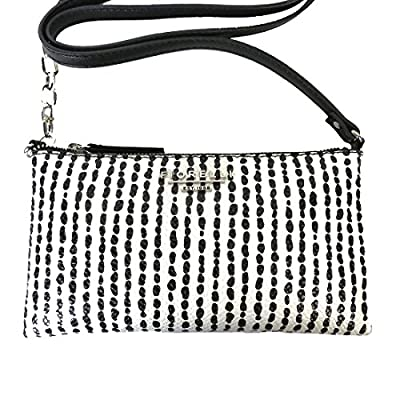 Fiorelli Dakota Crossbody Handbag Black and White