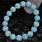 *『愛と平和』を象徴するカリブ海の美しい宝石・5A級天然石 ラリマー 11.1~11.5mm珠パワーストーン.ブレスレット(女性LL.男性L.size)