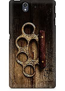 Amez designer printed 3d premium high quality back case cover for Sony Xperia Z (Assassins creed syndicate knuckles)