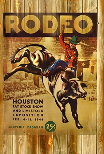 POSTER PRINT HOUSTON RODEO AND LIVESTOCK SHOW 1944 PROGRAM 11 x 17 Inches 11 x 17 old west (Vintage Rodeo Posters compare prices)