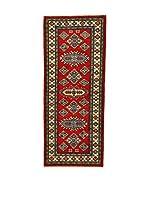 L'EDEN DEL TAPPETO Alfombra Uzebekistan Super Rojo/Multicolor 64 x 160 cm