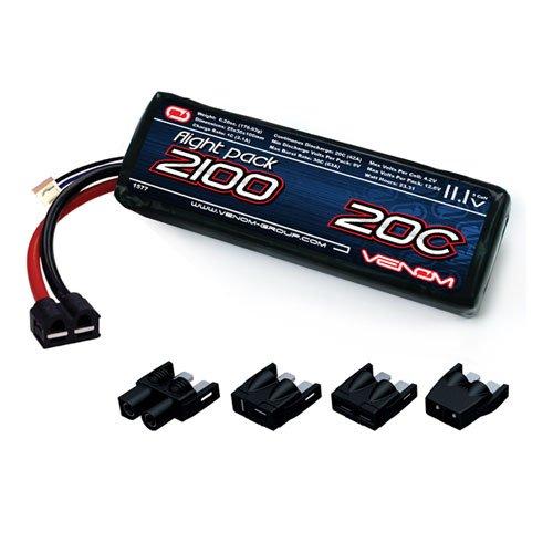 Venom 20C 3S 2100mAh 11.1 LiPO Battery with Universal Plug System