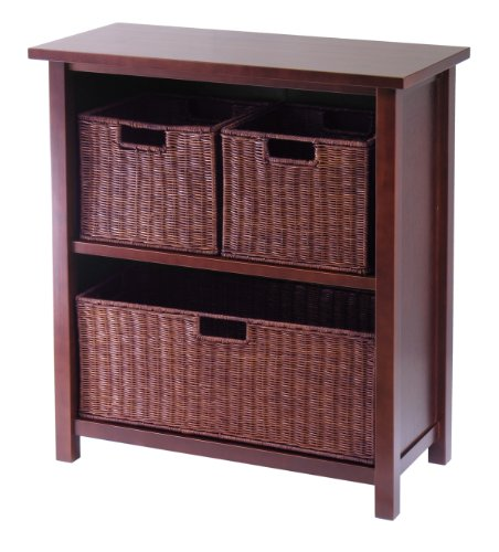 Winsome Wood Milan Wood 3 Tier Open Cabinet in
