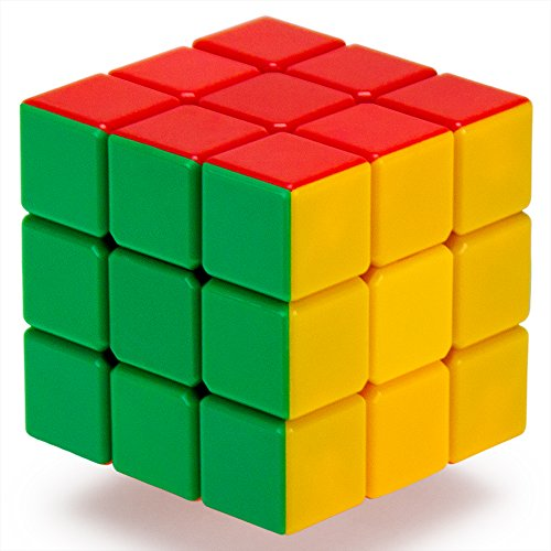 3 x 3 Stickerless 6-Color Puzzle Cube Engineered for Speed Solving by Brybelly