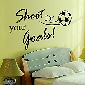 Sypure(TM) Creative Football Letter Removable Wall Stickers Art Decals Mural DIY Wallpaper for Kids Room Home Decor Decoration 45 * 60cm from Sypure