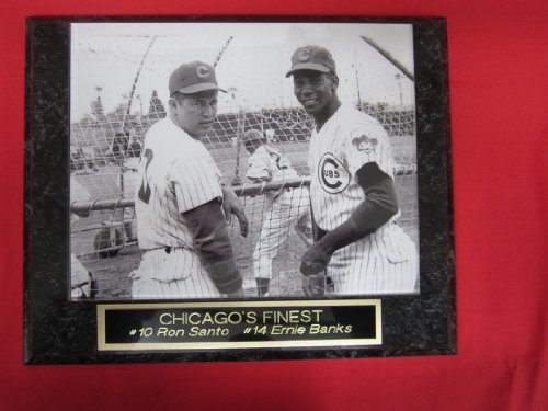 Ron Santo Ernie Banks Chicago Cubs Collector Plaque w/8x10 RARE PHOTO at Amazon.com