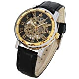 Luxury Orkina Transparent Skeleton Mechanical Clock Hand-winding Men Wrist Watch