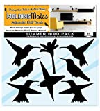 Molding Mates Summer Bird Pack 20 Molding Mates Home Decor Peel and Stick Vinyl Wall Decal Stickers